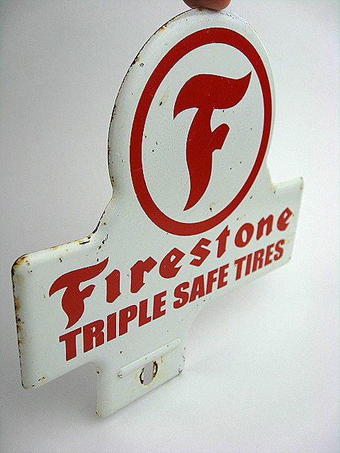 1950's Firestone ファイヤーストーン ビンテージ トッパー 検 アメ車 ホットロッド BELL 500TX ハーレー HOTROD 看板 NHRA トライアンフ_画像8