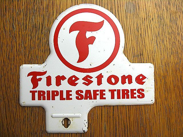 1950's Firestone ファイヤーストーン ビンテージ トッパー 検 アメ車 ホットロッド BELL 500TX ハーレー HOTROD 看板 NHRA トライアンフ_画像1