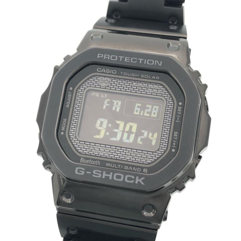 新品同様 CASIO カシオ G-SHOCK GMW-B5000GD-1JF ブラック メタル ソーラー Bluetooth 腕時計