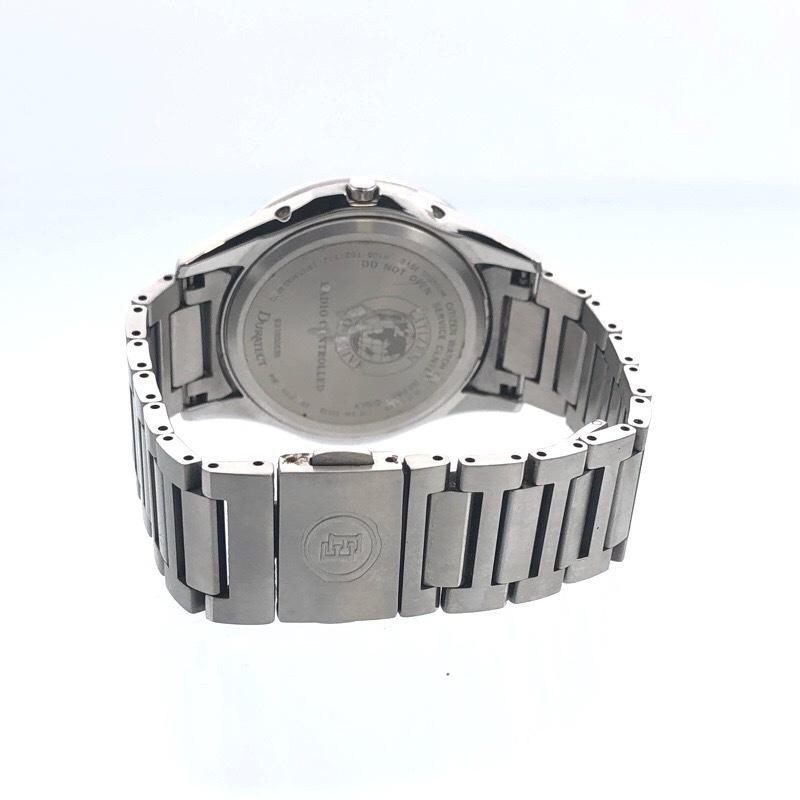 美品  シチズン エクシード AT6000-52E ソーラー電波 メンズ ブラック 腕時計_画像4