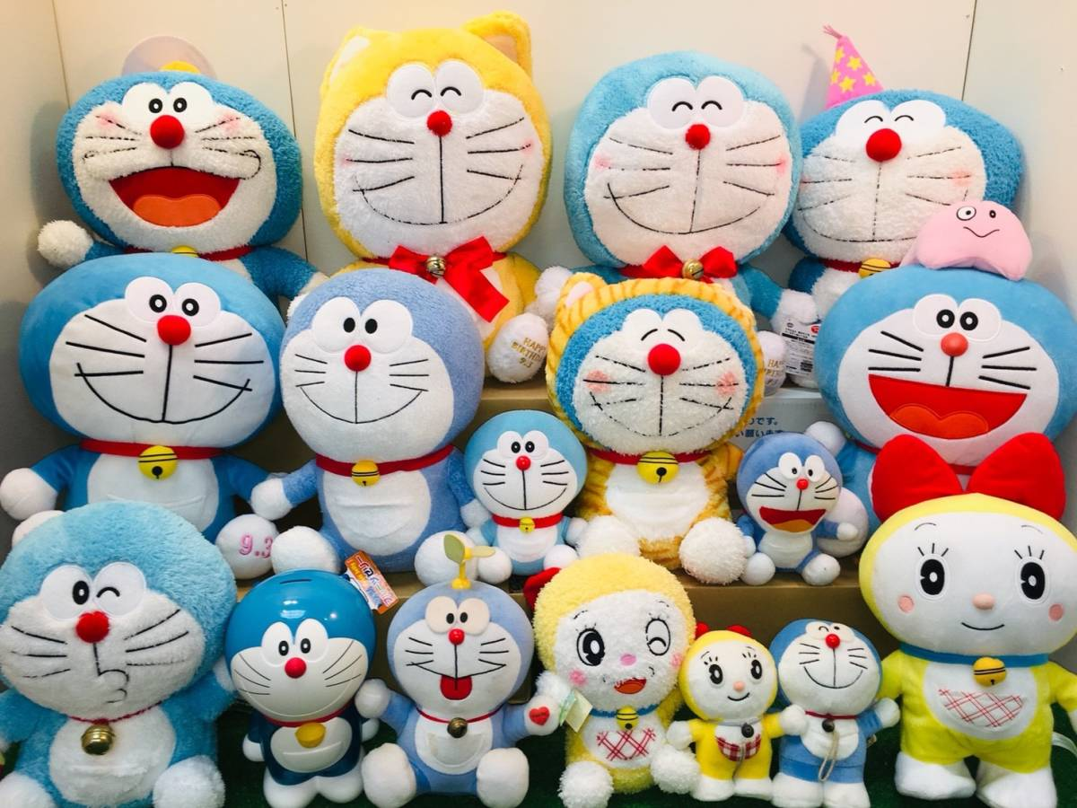 ▽ 22 ドラえもん☆ ぬいぐるみ まとめて ドラみちゃん キャラクター アニメ 大量 いっぱい マスコット 160