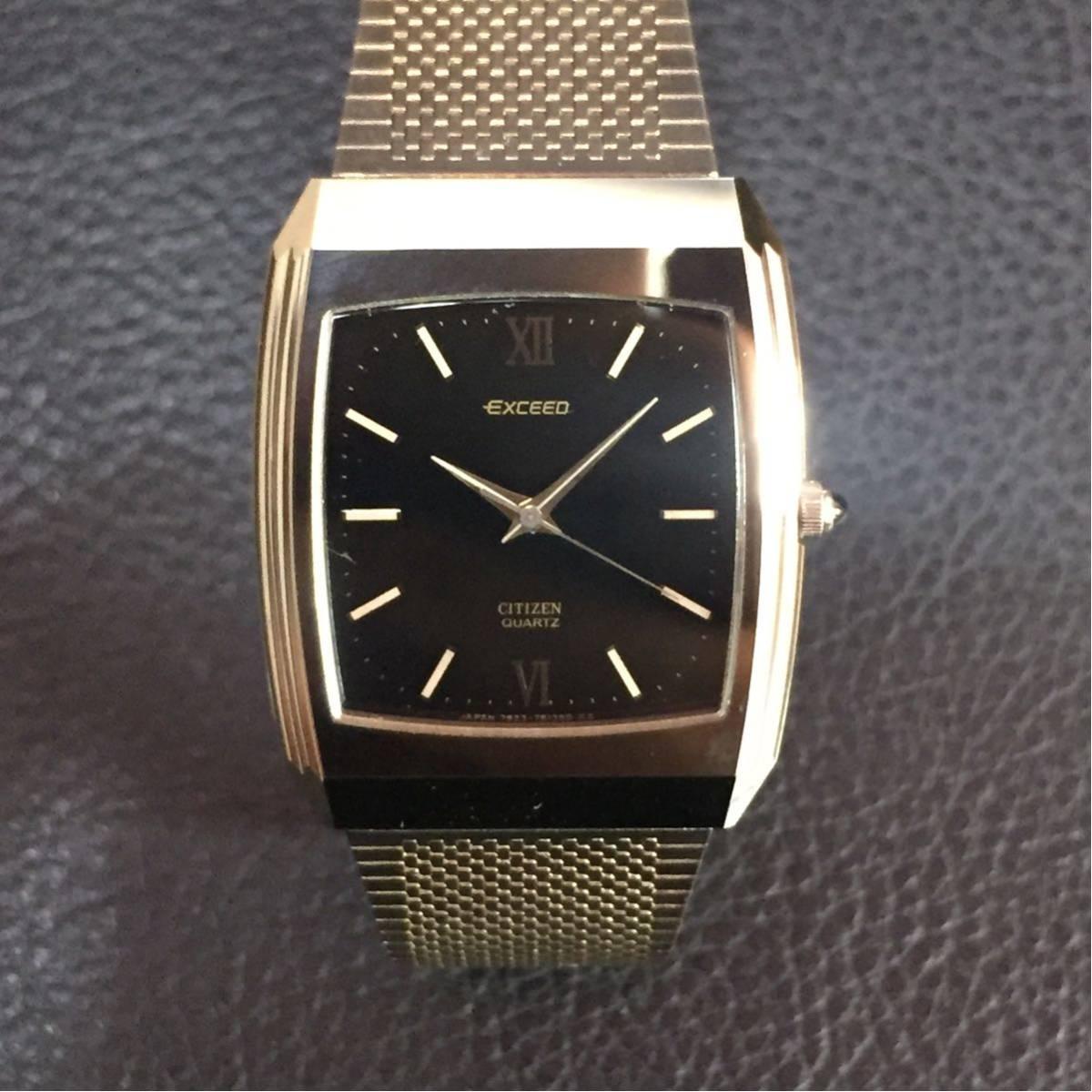 動作品【B-3】CITIZEN シチズン EXCEED エクシード 4-798392 クォーツ メンズ 腕時計_画像2