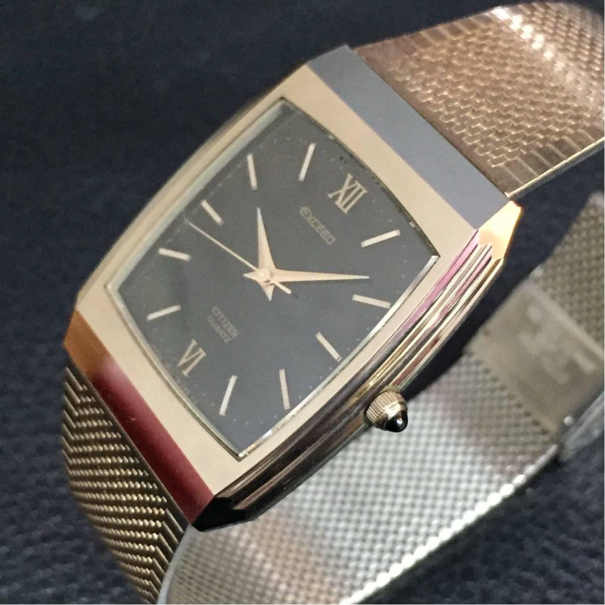 動作品【B-3】CITIZEN シチズン EXCEED エクシード 4-798392 クォーツ メンズ 腕時計_画像3