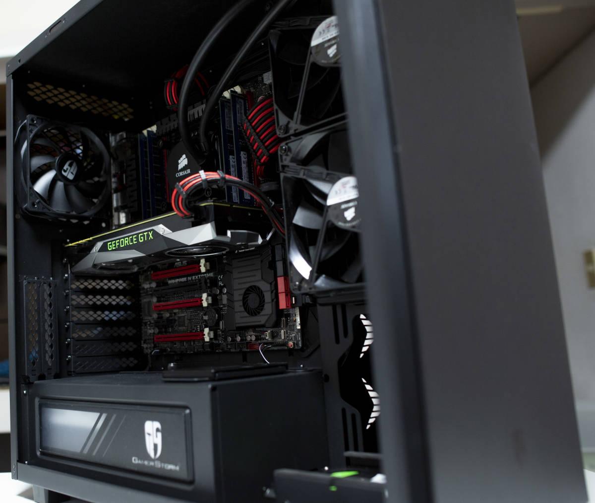 ゲーミングPC/Intel Core i7-4930K 12スレッド x79@4.6Ghz /Rampage IV Extreme/GTX 1080 FE/メモリ 32GB ecc/SSD 500GB+ 4TB HDD/750W_画像2