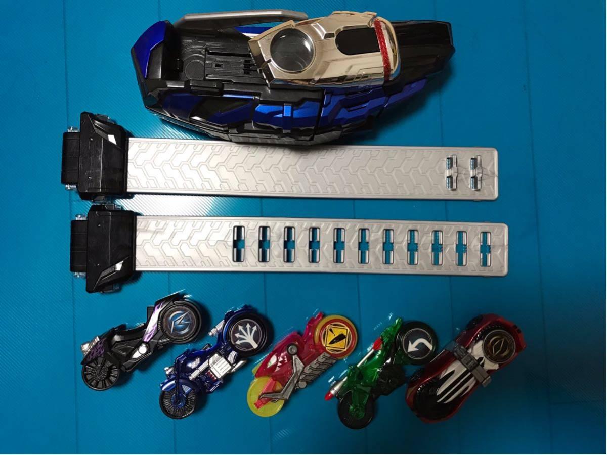 仮面ライダードライブ 変身ベルト DX マッハドライバー炎 シフトカー シグナルバイク 5個付き ベルト留め欠品