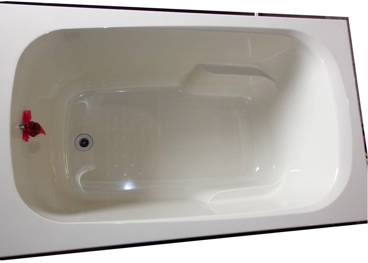 【在庫品】 LIXIL INAX FRP浴槽 B-1200P オフホワイト エプロン ゴム栓 幅1200 未使用未施工 endstbN_画像3