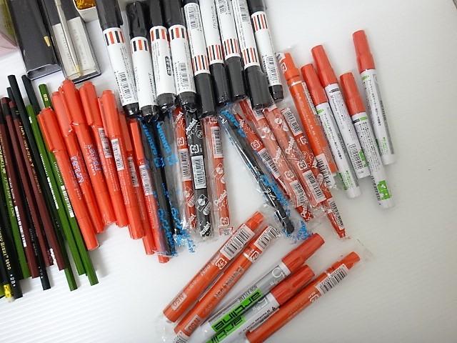 大量!◆新品【筆記用具 福袋】ボールペン/シャーペン/鉛筆/サインペン/マジック/筆ペン/クレヨン/色鉛筆/万年筆_画像9