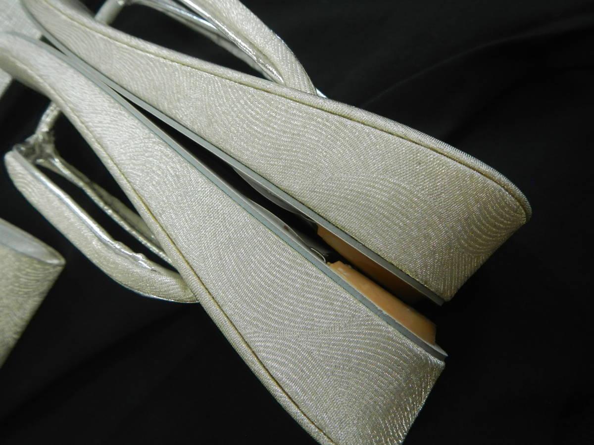 <銀の斧>和装・草履バッグセット・正装用_画像6