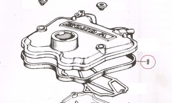 新品!リプロダクツ:Honda360cc水冷エンジンタペットカバーパッキン・EAエンジンカムカバーパッキン・ライフ360・ステップバン・Z360_画像1