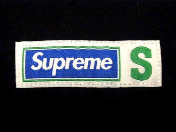 極美 18SS Supreme Athletic Label S/S Top Sサイズ アスレチック レーベル カットソー Black 黒 Tシャツ_画像5