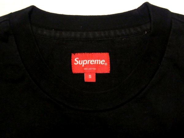 極美 18SS Supreme Athletic Label S/S Top Sサイズ アスレチック レーベル カットソー Black 黒 Tシャツ_画像4