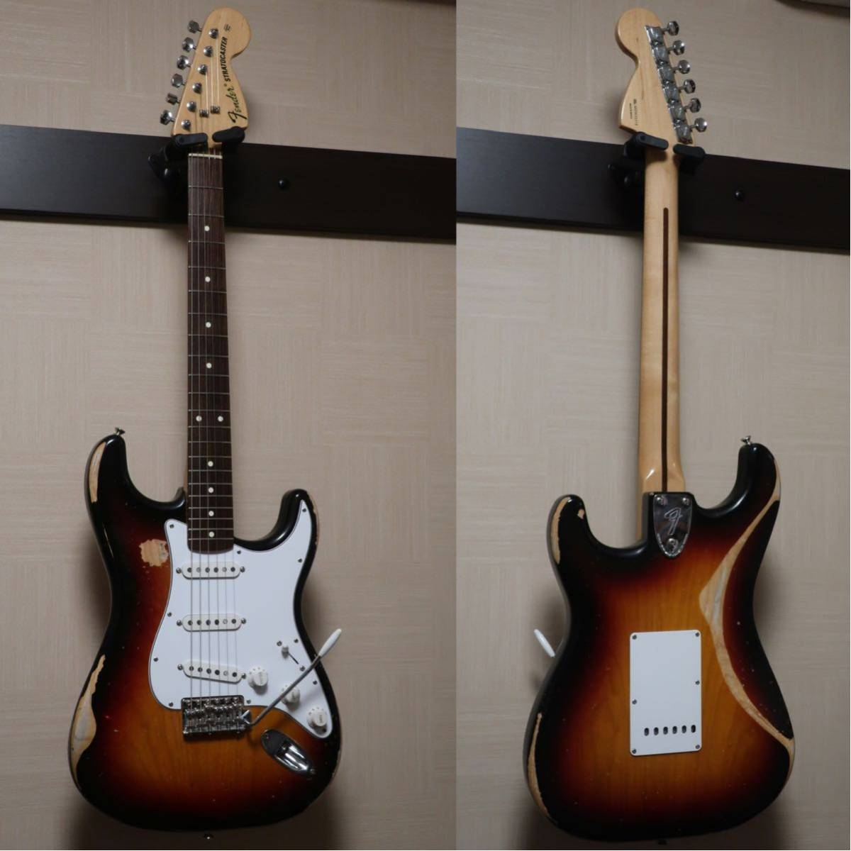 【RELIC】Fender Mexico Classic 70s Stratocaster 3CS/R 手巻きVooDooピックアップ +EMERSON CUSTOM ヴィンテージハードケース付き_画像3