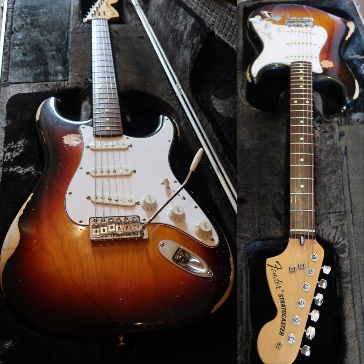 【RELIC】Fender Mexico Classic 70s Stratocaster 3CS/R 手巻きVooDooピックアップ +EMERSON CUSTOM ヴィンテージハードケース付き