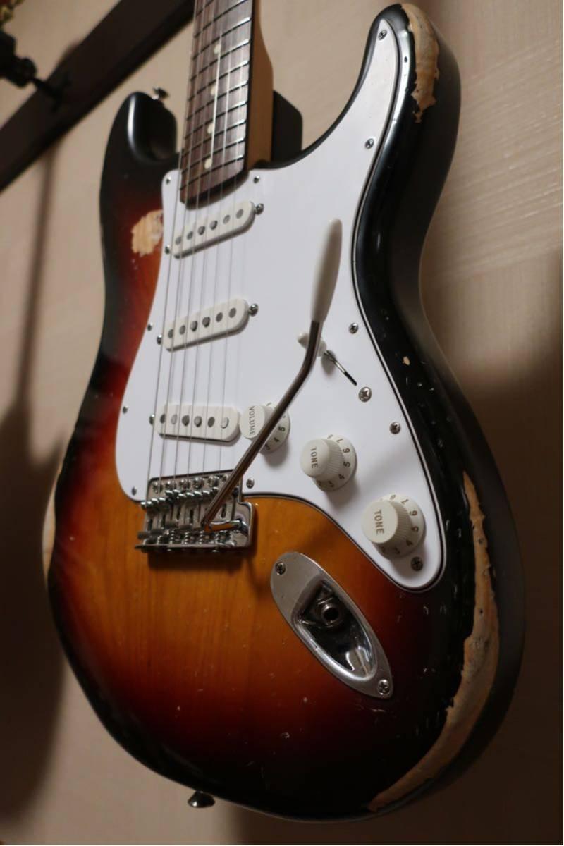 【RELIC】Fender Mexico Classic 70s Stratocaster 3CS/R 手巻きVooDooピックアップ +EMERSON CUSTOM ヴィンテージハードケース付き_画像7