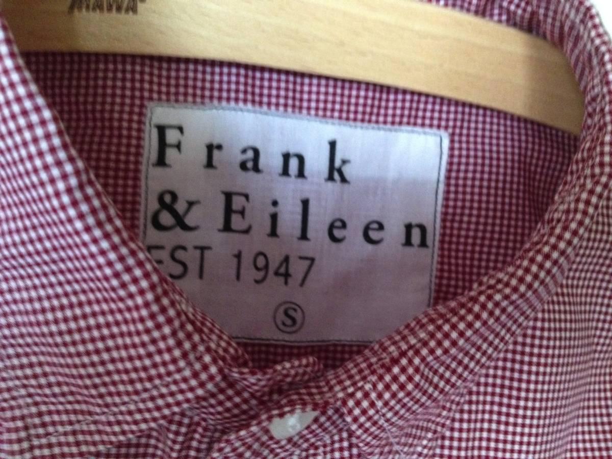 Frank&Eileen PAUL 長袖シャツ ギンガムチェック RED/WHITE MADE IN SUNNY CALIFORNIA フランク&アイリーン _画像5