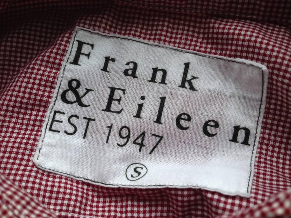 Frank&Eileen PAUL 長袖シャツ ギンガムチェック RED/WHITE MADE IN SUNNY CALIFORNIA フランク&アイリーン _画像3