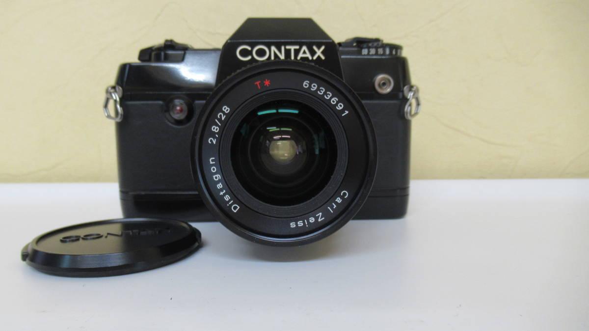 ☆A-13 CONTAX コンタックス 一眼レフカメラ 137 ボディ 28mm ジャンク品