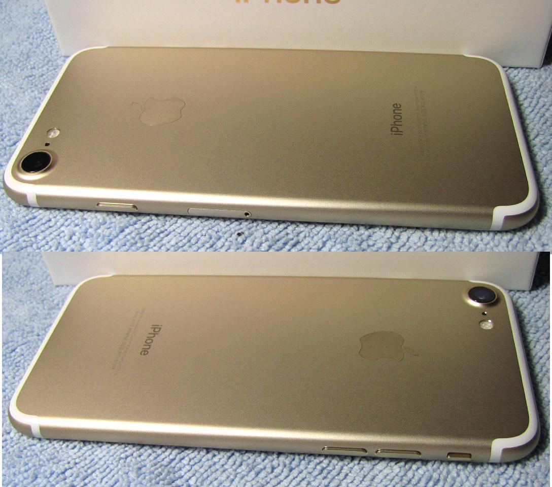 傷なし 新品同様美品 SIMフリー 化済 Apple iPhone7 128GB ゴールド docomo版 SIMロック解除済 格安SIM OK iphone 7 スピード発送_画像6