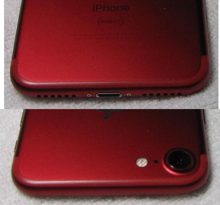 極美品 SIMフリー 化済 Apple iPhone7 128GB PRODUCT レッド au版 SIMロック解除済 格安SIM OK iphone 7 スピード発送_画像5