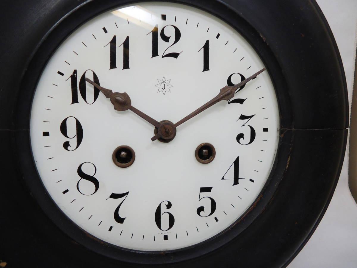 ドイツ製 ユンハンス 小型 柱時計 Jマーク/ガラス文字盤 動作品_画像2