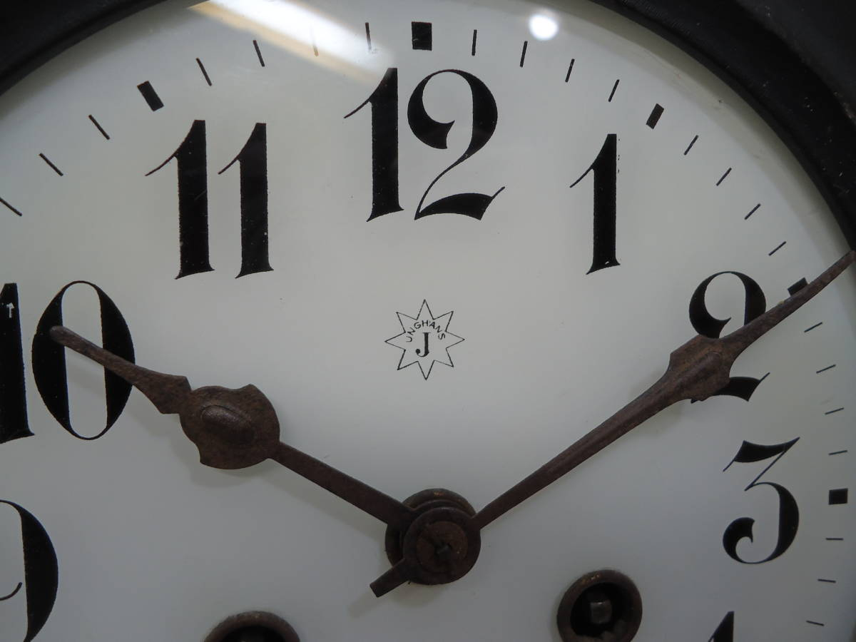 ドイツ製 ユンハンス 小型 柱時計 Jマーク/ガラス文字盤 動作品_画像3