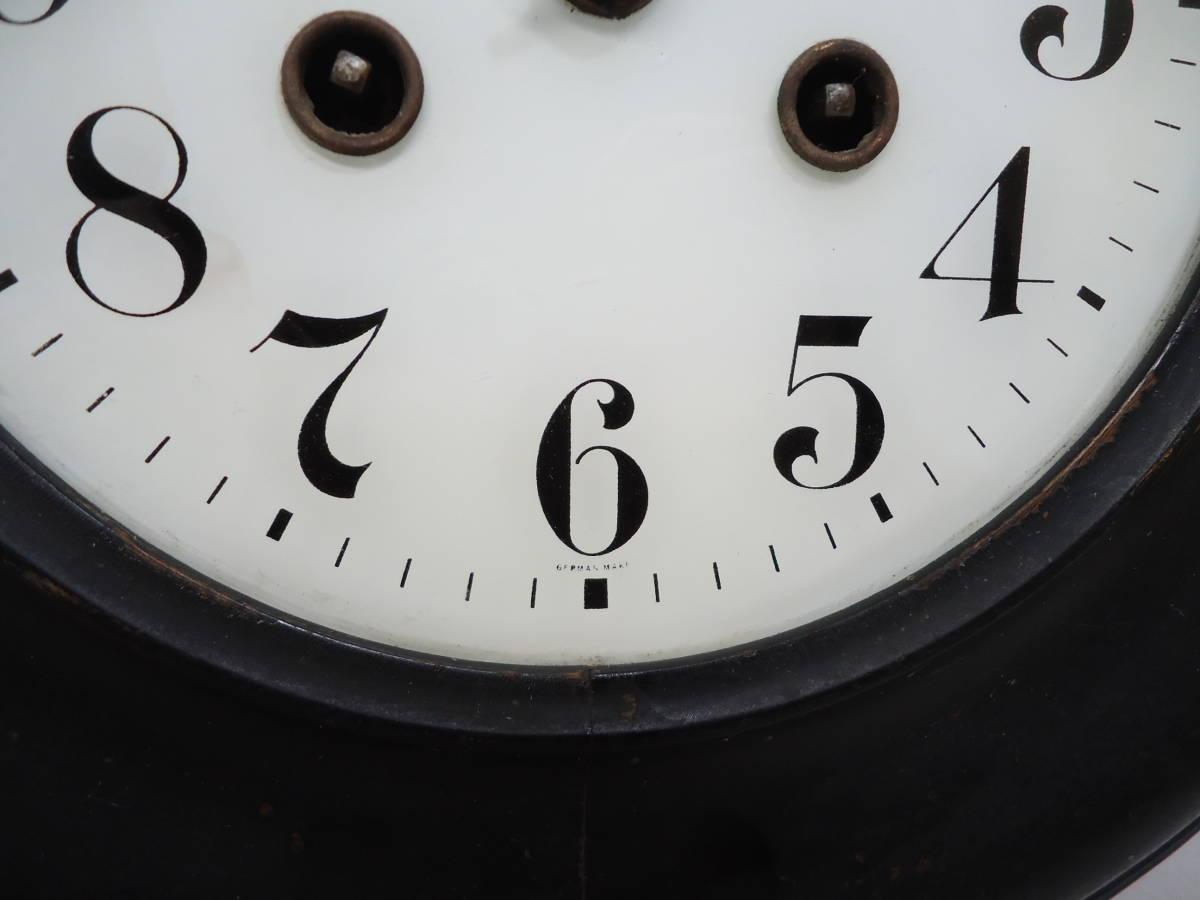 ドイツ製 ユンハンス 小型 柱時計 Jマーク/ガラス文字盤 動作品_画像4