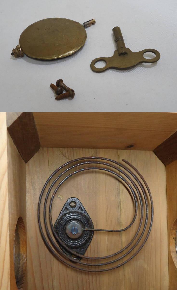 ドイツ製 ユンハンス 小型 柱時計 Jマーク/ガラス文字盤 動作品_画像7