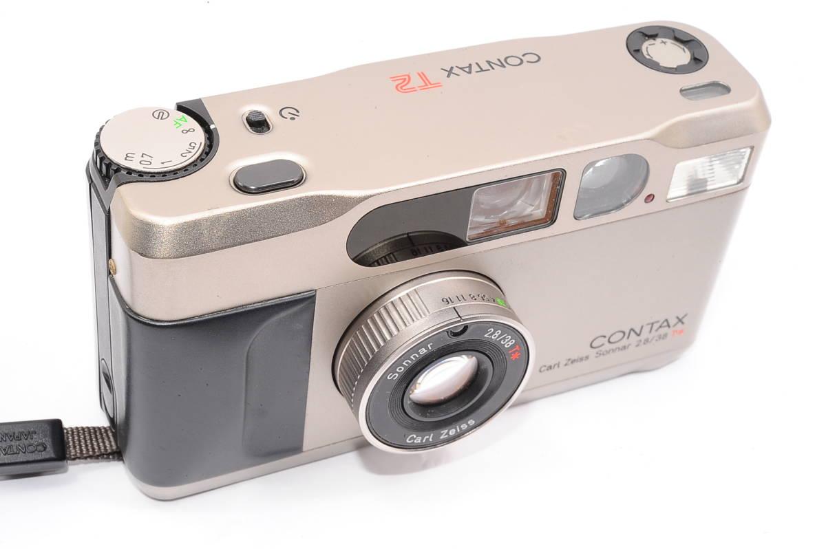 コンタックス CONTAX T2 ゾナー 38mm F2.8 T* データバック(DATA BACK) コンパクトフィルムカメラ + 専用ストラップ付き [102885]_画像5