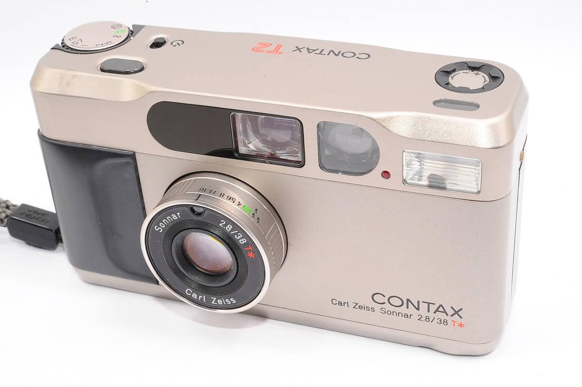 コンタックス CONTAX T2 ゾナー 38mm F2.8 T* データバック(DATA BACK) コンパクトフィルムカメラ + 専用ストラップ付き [102885]