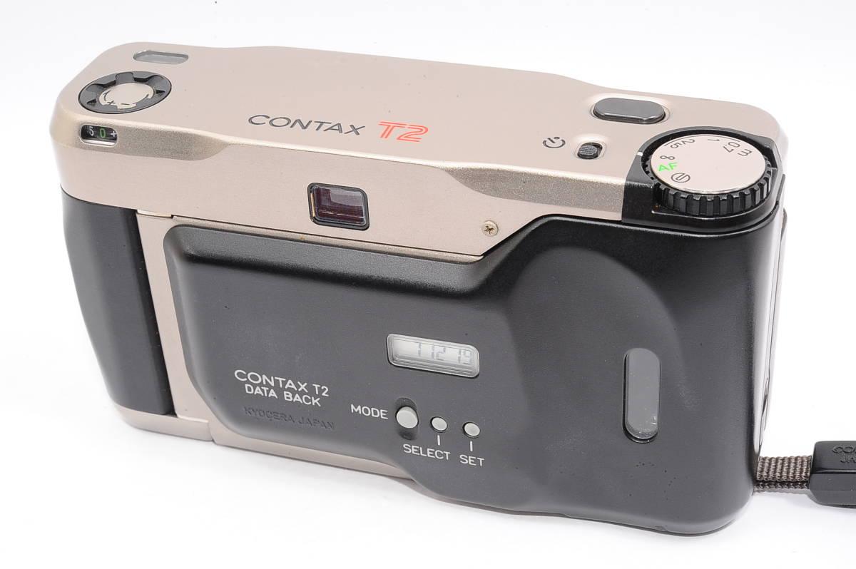 コンタックス CONTAX T2 ゾナー 38mm F2.8 T* データバック(DATA BACK) コンパクトフィルムカメラ + 専用ストラップ付き [102885]_画像2