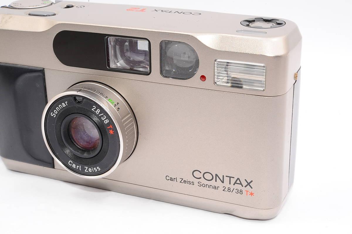 コンタックス CONTAX T2 ゾナー 38mm F2.8 T* データバック(DATA BACK) コンパクトフィルムカメラ + 専用ストラップ付き [102885]_画像6