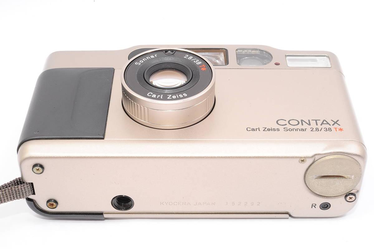 コンタックス CONTAX T2 ゾナー 38mm F2.8 T* コンパクトフィルムカメラ + ストラップ付き [152292]_画像4