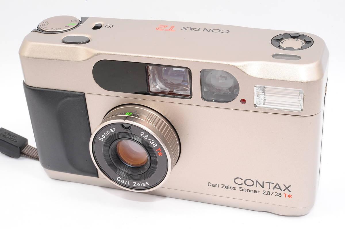 コンタックス CONTAX T2 ゾナー 38mm F2.8 T* コンパクトフィルムカメラ + ストラップ付き [152292]