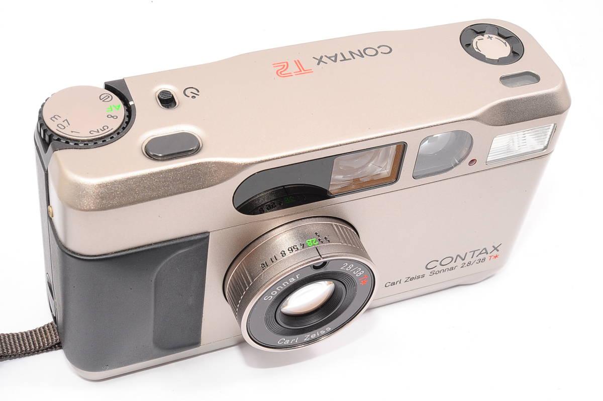 コンタックス CONTAX T2 ゾナー 38mm F2.8 T* コンパクトフィルムカメラ + ストラップ付き [152292]_画像5
