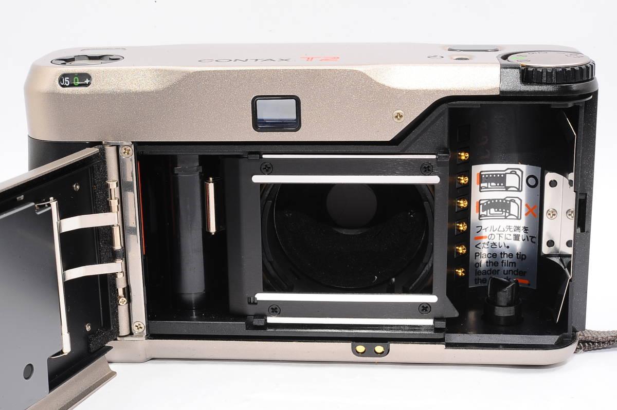 コンタックス CONTAX T2 ゾナー 38mm F2.8 T* コンパクトフィルムカメラ + ストラップ付き [152292]_画像3