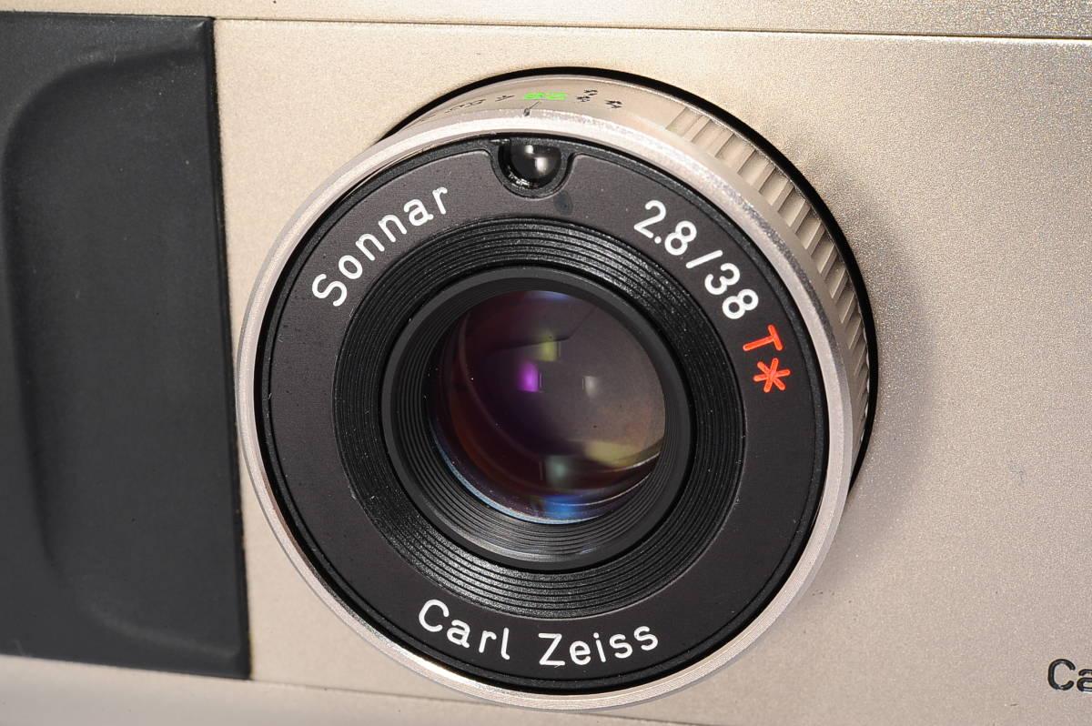 コンタックス CONTAX T2 ゾナー 38mm F2.8 T* コンパクトフィルムカメラ + ストラップ付き [152292]_画像6
