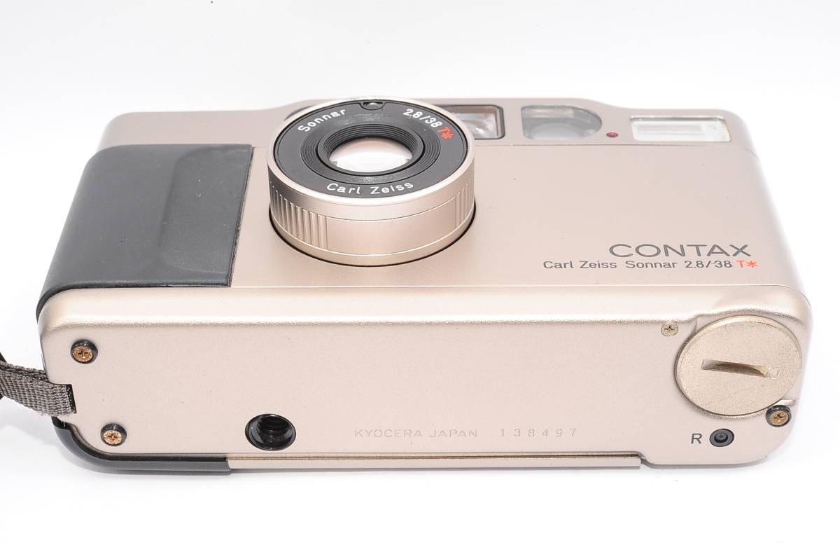 コンタックス CONTAX T2 ゾナー 38mm F2.8 T* コンパクトフィルムカメラ + 専用ポーチ、ストラップ付き [138497]_画像4