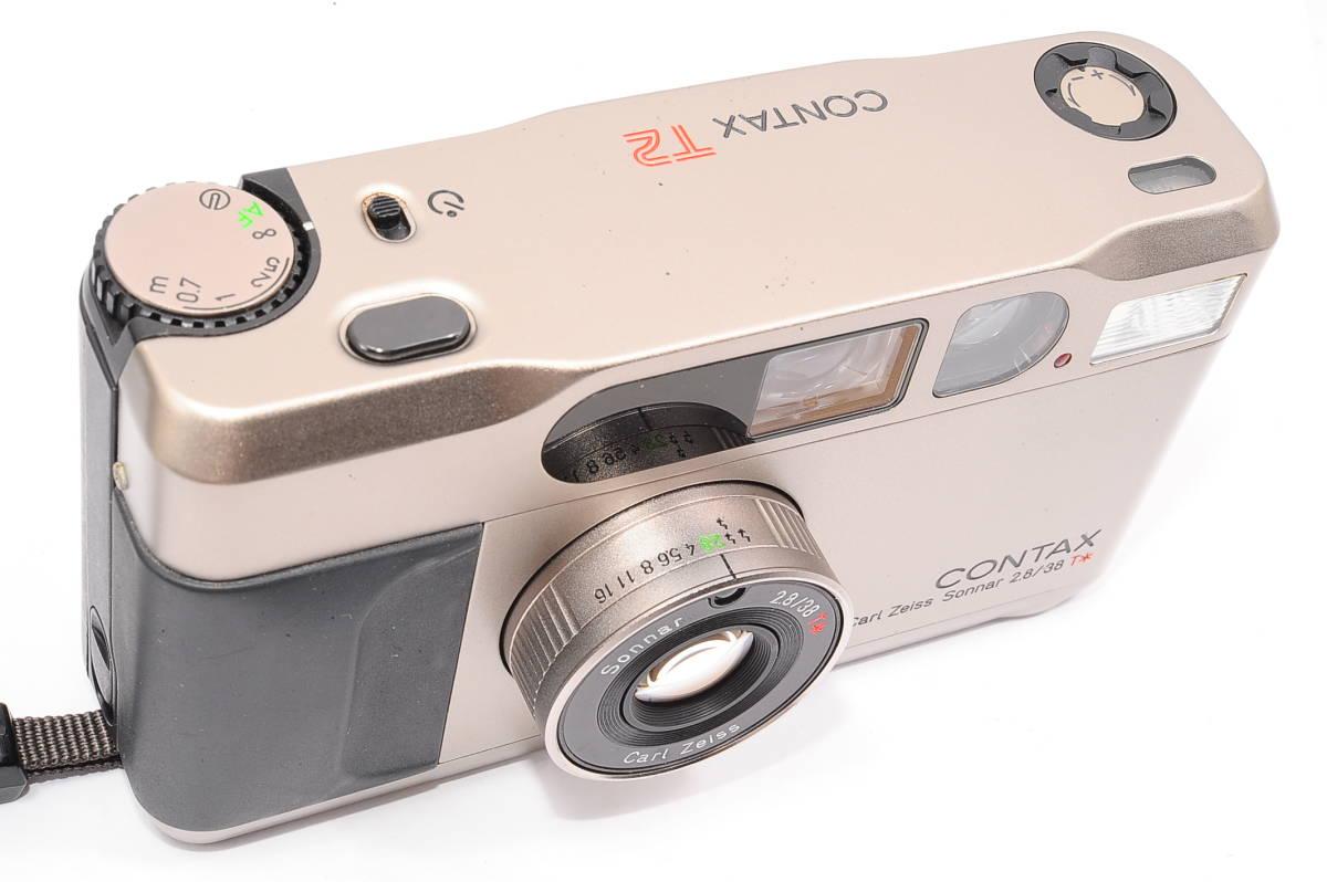 コンタックス CONTAX T2 ゾナー 38mm F2.8 T* コンパクトフィルムカメラ + 専用ポーチ、ストラップ付き [138497]_画像5