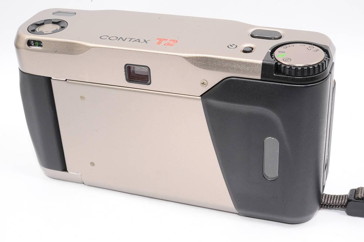 コンタックス CONTAX T2 ゾナー 38mm F2.8 T* コンパクトフィルムカメラ + 専用ポーチ、ストラップ付き [138497]_画像2
