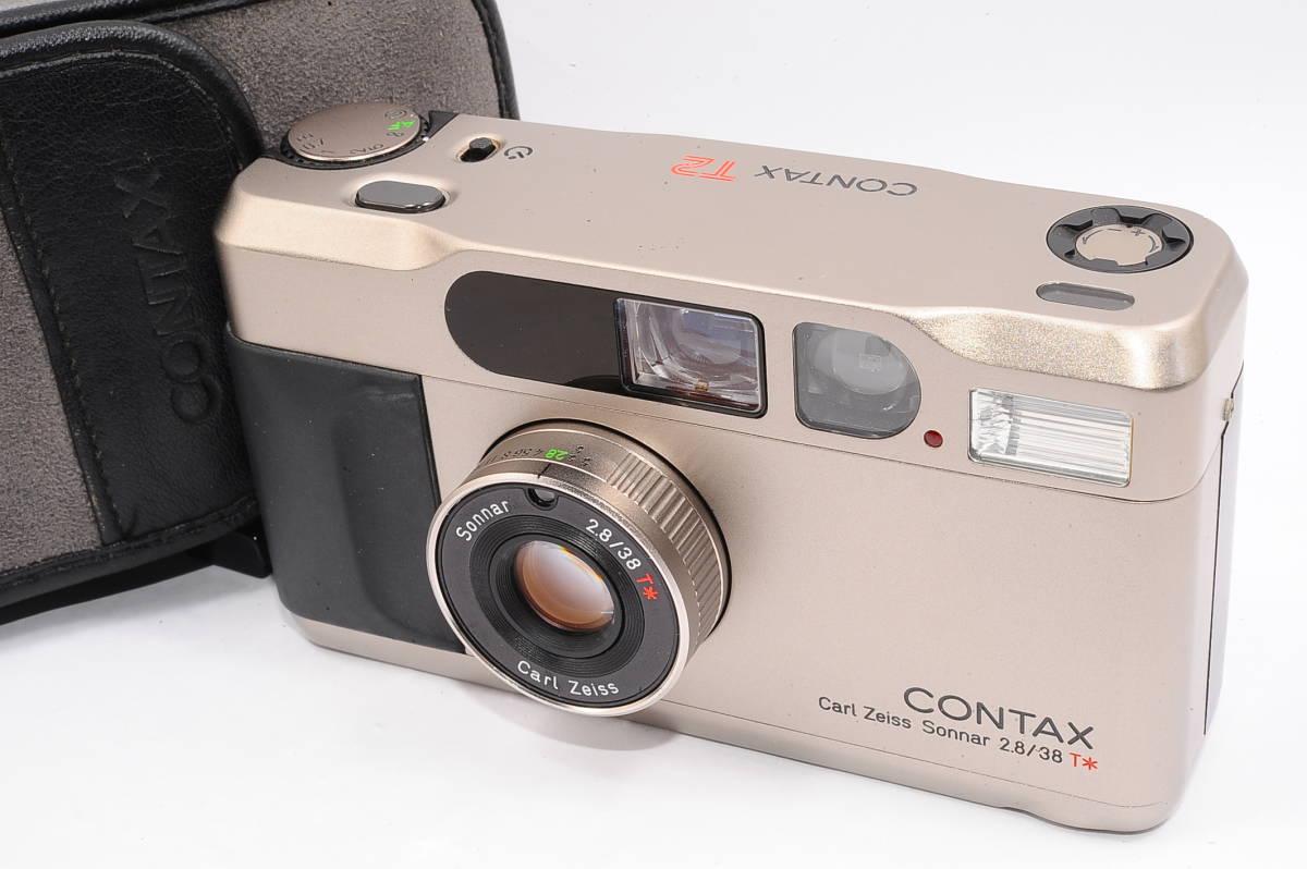 コンタックス CONTAX T2 ゾナー 38mm F2.8 T* コンパクトフィルムカメラ + 専用ポーチ、ストラップ付き [138497]