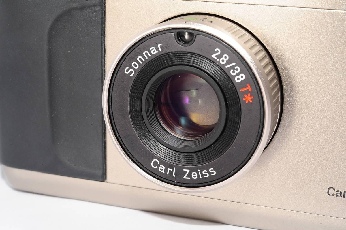 コンタックス CONTAX T2 ゾナー 38mm F2.8 T* コンパクトフィルムカメラ + 専用ポーチ、ストラップ付き [138497]_画像6