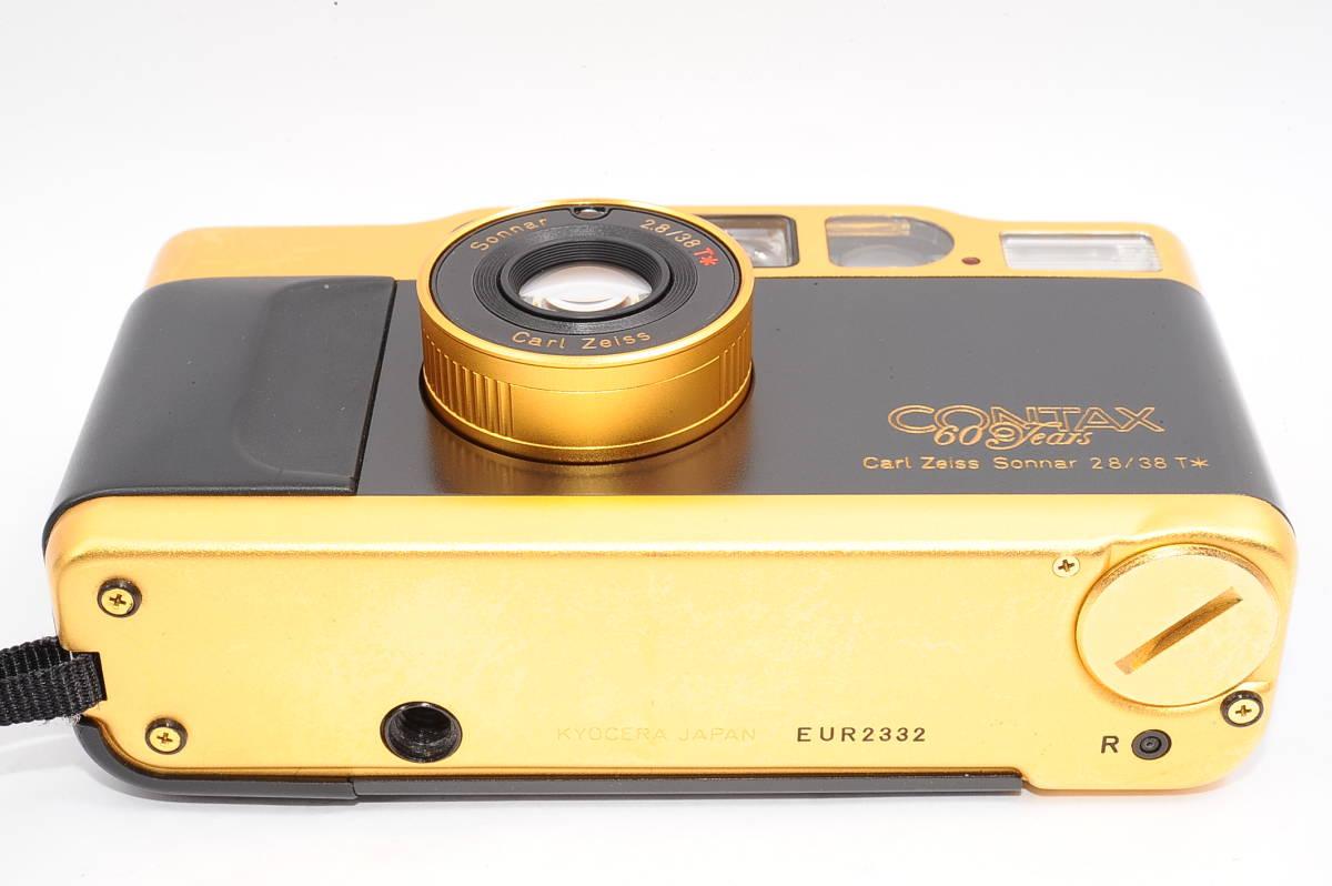 コンタックス CONTAX T2 ゾナー 38mm F2.8 T* 60Years コンパクトフィルムカメラ + 専用ポーチ,ストラップ付き 60周年記念モデル [EUR2332]_画像4
