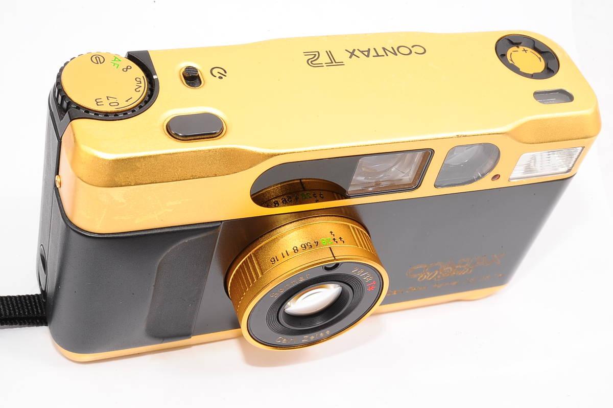コンタックス CONTAX T2 ゾナー 38mm F2.8 T* 60Years コンパクトフィルムカメラ + 専用ポーチ,ストラップ付き 60周年記念モデル [EUR2332]_画像5