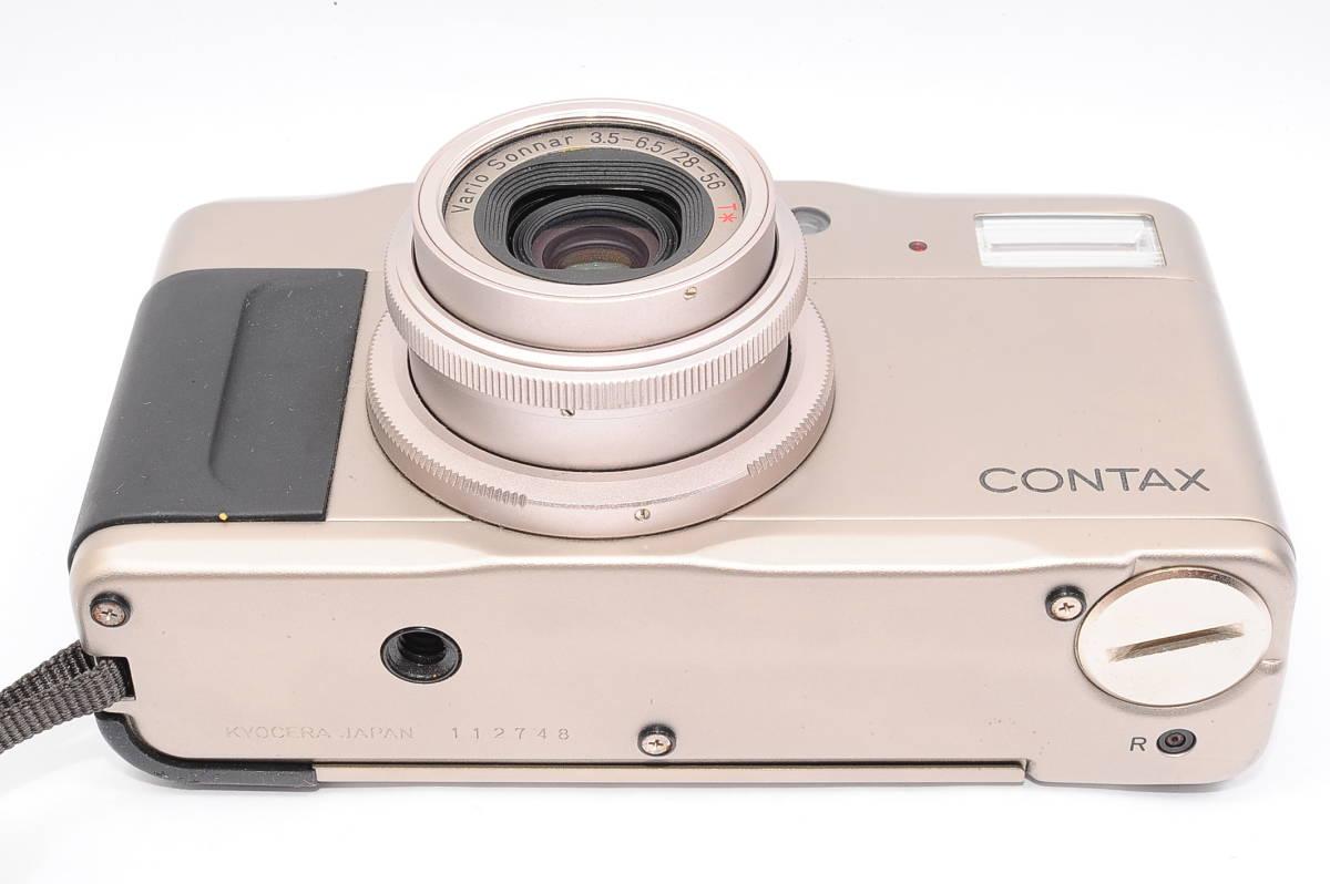 コンタックス CONTAX TVS II/2 バリオゾナー 28-56mm F3.5-6.5 T* コンパクトフィルムカメラ + 専用ポーチ、ストラップ付 [112748]_画像4