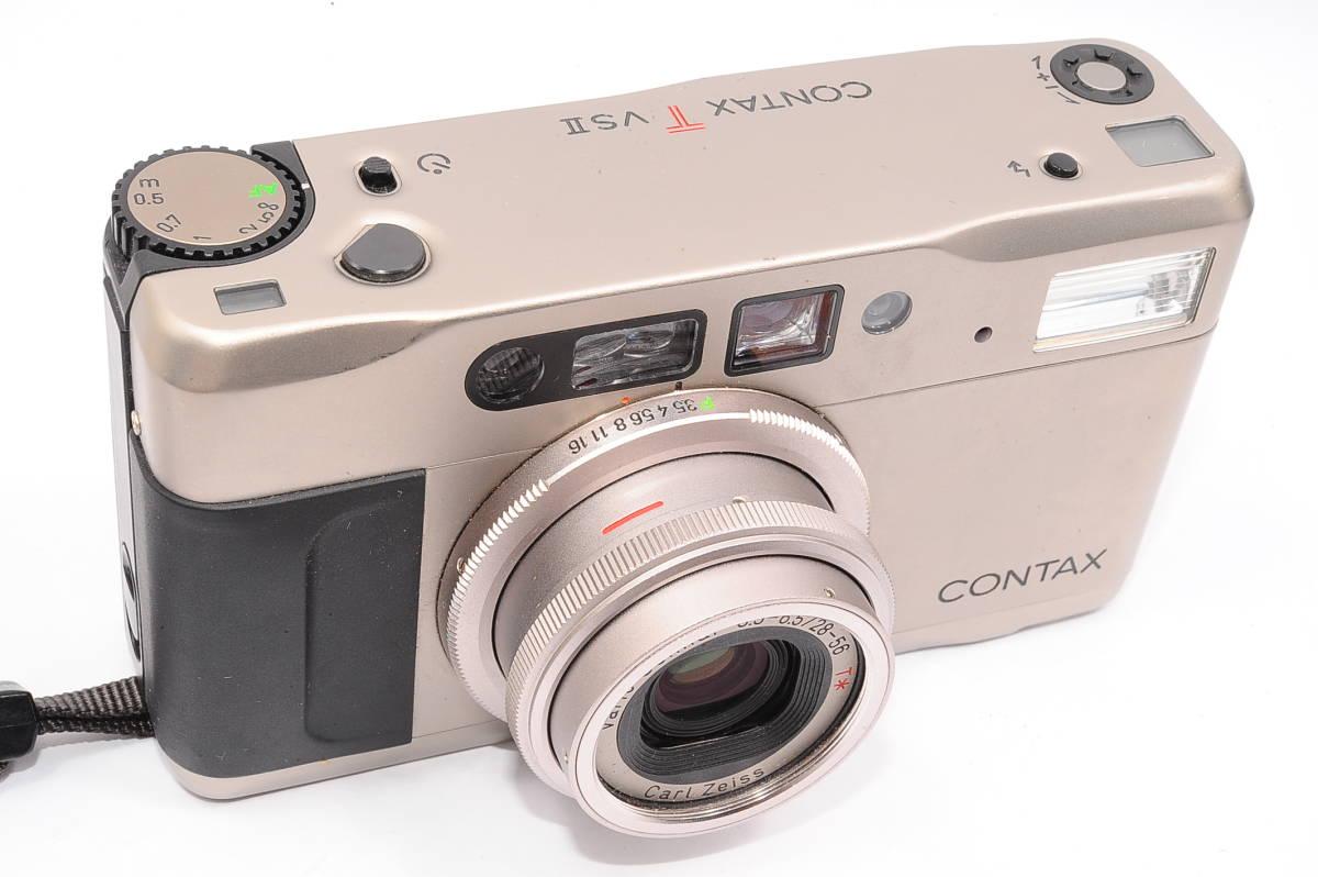 コンタックス CONTAX TVS II/2 バリオゾナー 28-56mm F3.5-6.5 T* コンパクトフィルムカメラ + 専用ポーチ、ストラップ付 [112748]_画像5