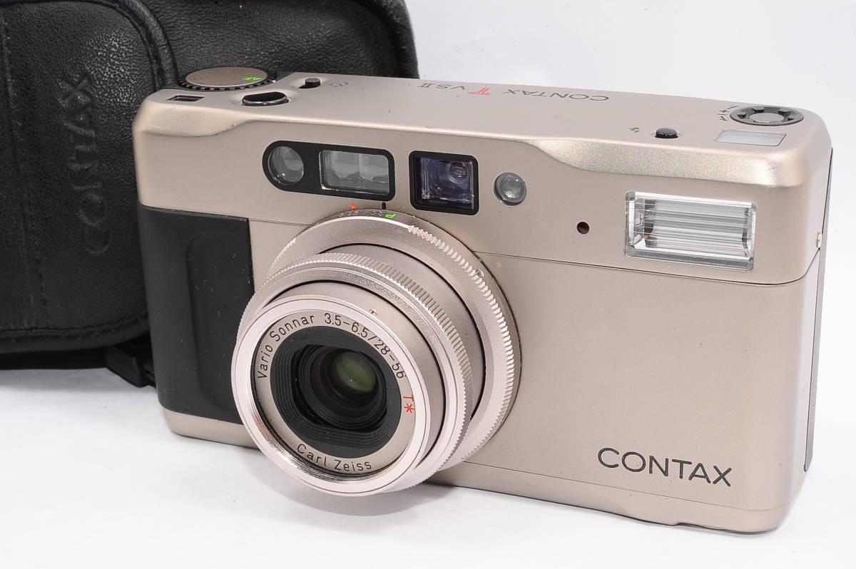 コンタックス CONTAX TVS II/2 バリオゾナー 28-56mm F3.5-6.5 T* コンパクトフィルムカメラ + 専用ポーチ、ストラップ付 [112748]
