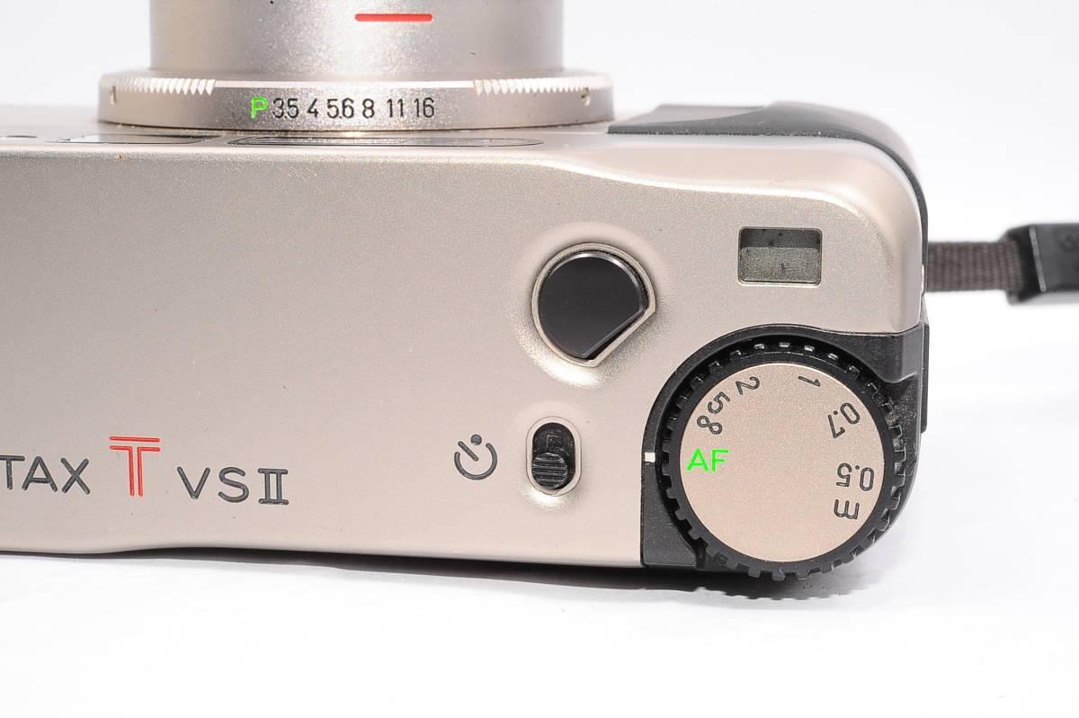 コンタックス CONTAX TVS II/2 バリオゾナー 28-56mm F3.5-6.5 T* コンパクトフィルムカメラ + 専用ポーチ、ストラップ付 [112748]_画像6