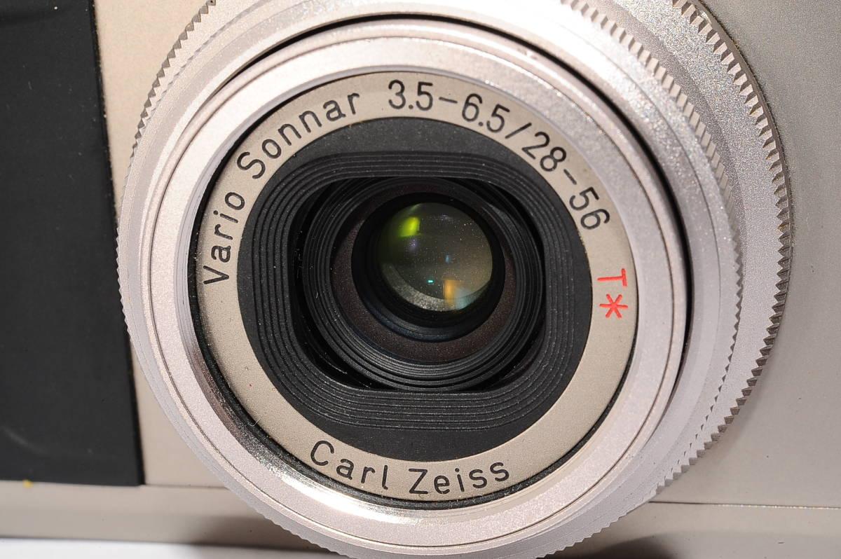コンタックス CONTAX TVS II/2 バリオゾナー 28-56mm F3.5-6.5 T* コンパクトフィルムカメラ + 専用ポーチ、ストラップ付 [112748]_画像7