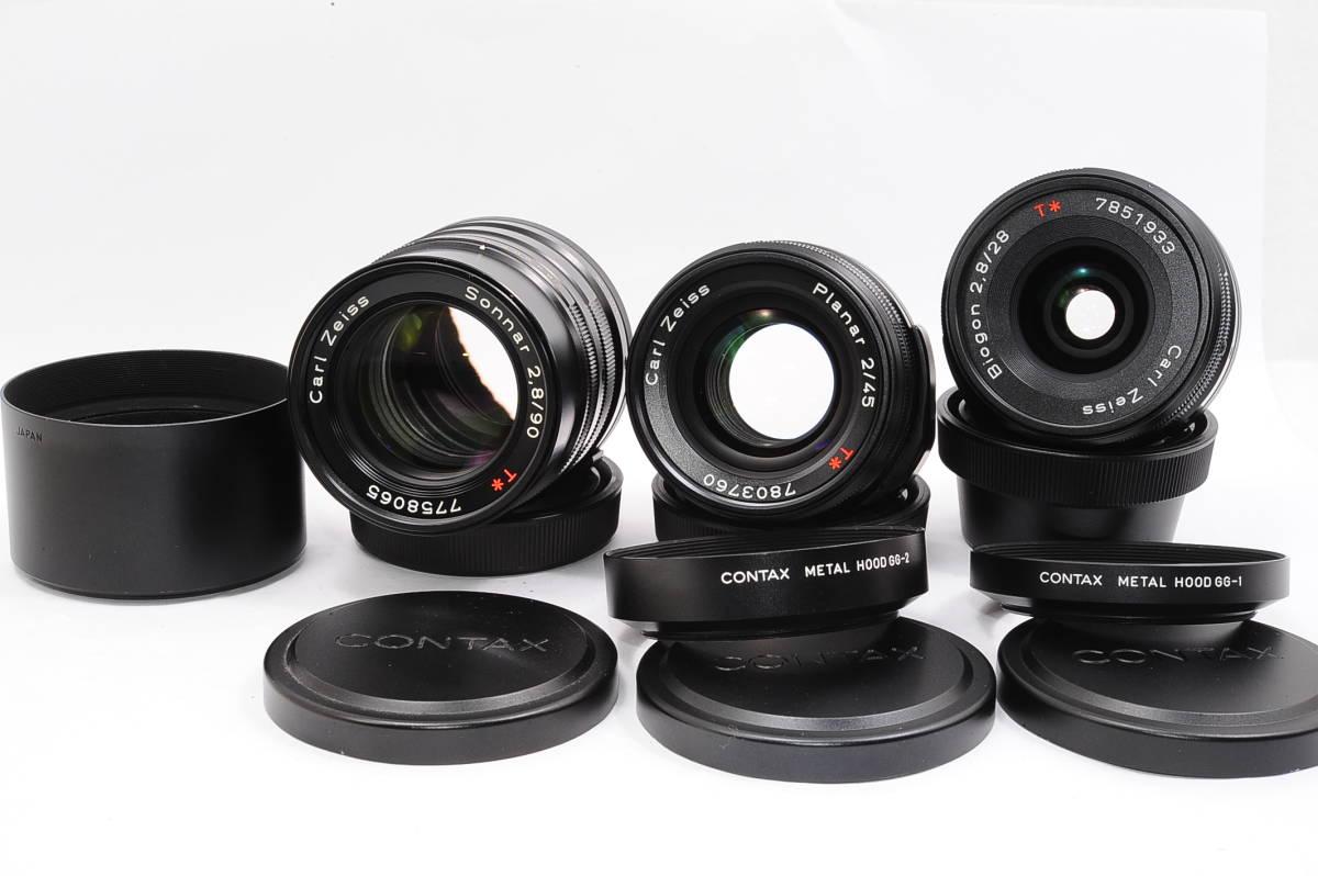 コンタックス CONTAX G2 記念キット-ブラック (ゾナー90mm,プラナー45mm ビオゴン28mm ,TLA200) + 専用ケース,フード,ストラップ [047187]_画像6