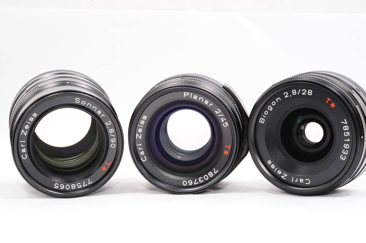 コンタックス CONTAX G2 記念キット-ブラック (ゾナー90mm,プラナー45mm ビオゴン28mm ,TLA200) + 専用ケース,フード,ストラップ [047187]_画像7